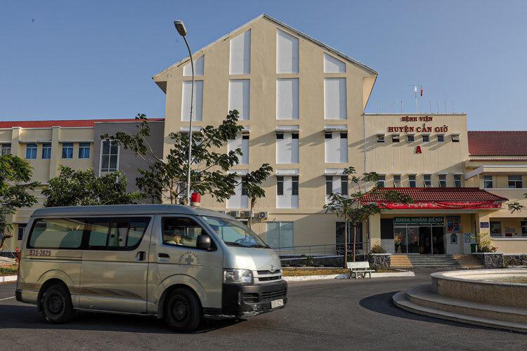 Bệnh viện Cần Giờ trở thành bệnh viện chuyên khoa điều trị Covid-19từngày 16/3. Ảnh: Hữu Khoa.
