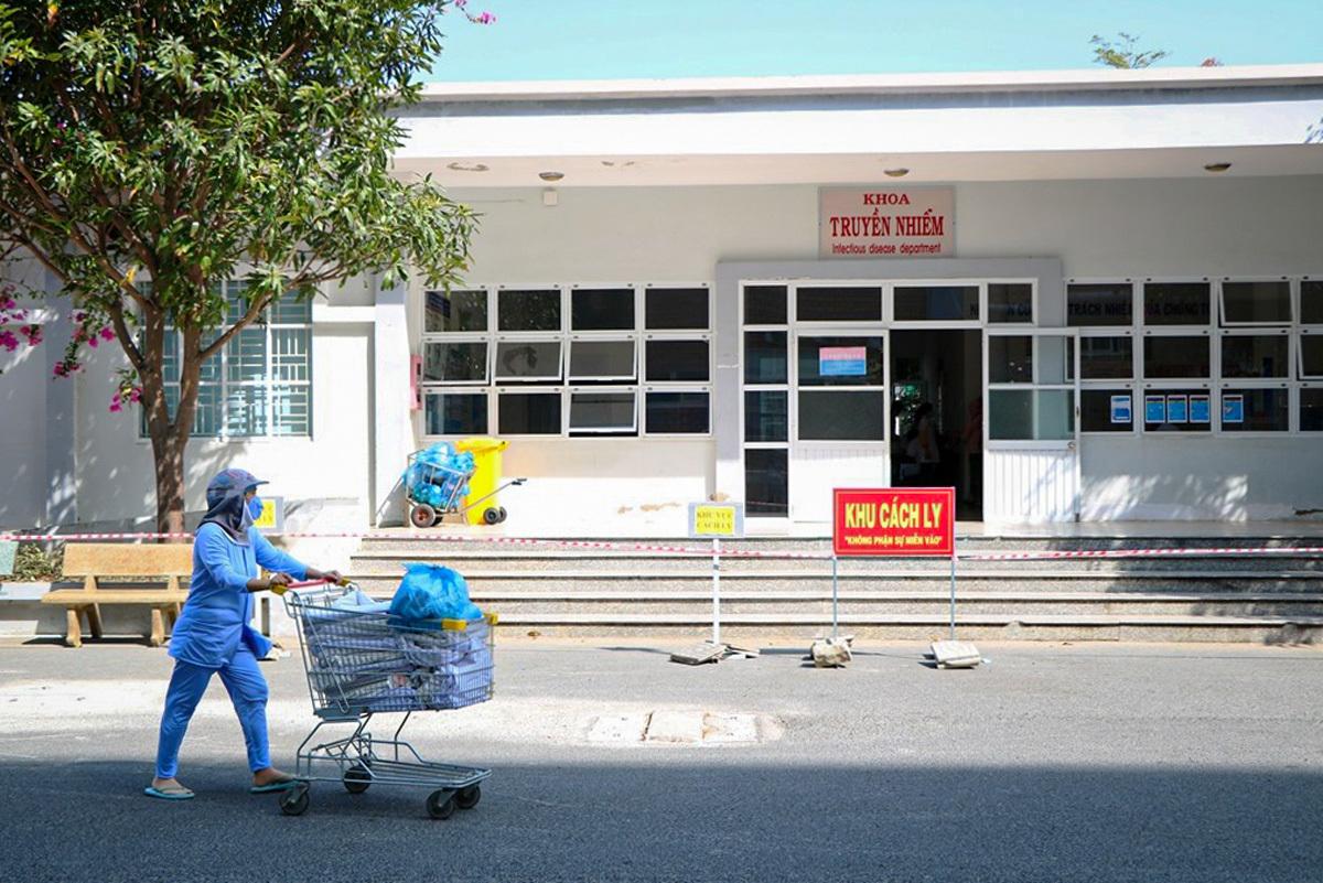 Khoa Truyền nhiễm Bệnh viện Đa khoa tỉnhNinh Thuận, nơi điều trị bệnh nhân Covid-19. Ảnh:Trường Nguyên.