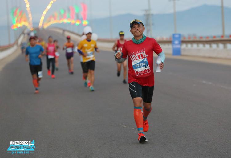 Anh Nguyễn Thanh Giang tại giải VnExpress Marathon Quy Nhơn tháng 6/2019.