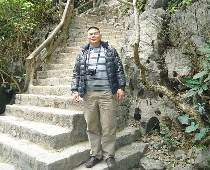 Anh Nguyễn Thanh Giang thời điểm đầu năm 2017, nặng hơn 90kg.