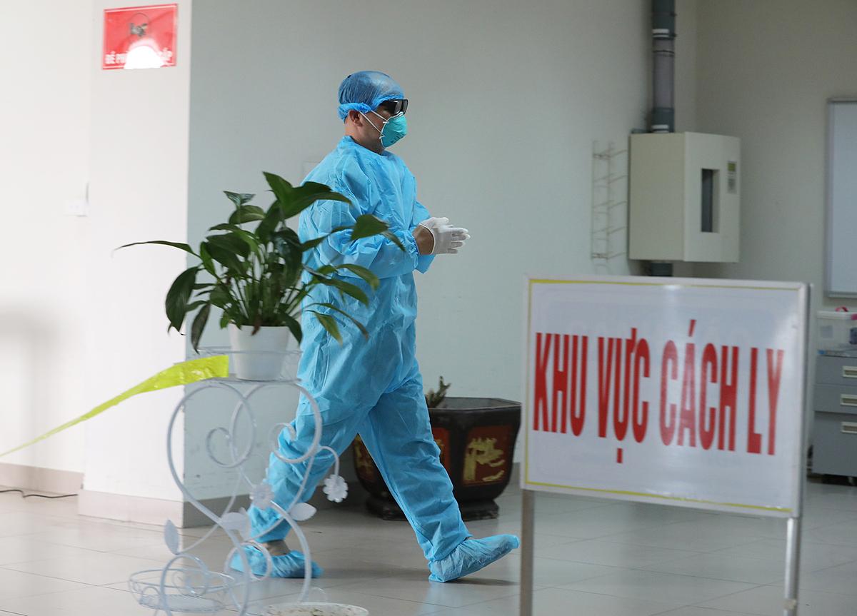 Khu cách ly tại Bệnh viện Bệnh nhiệt đới Trung ương. Ảnh: Ngọc Thành.