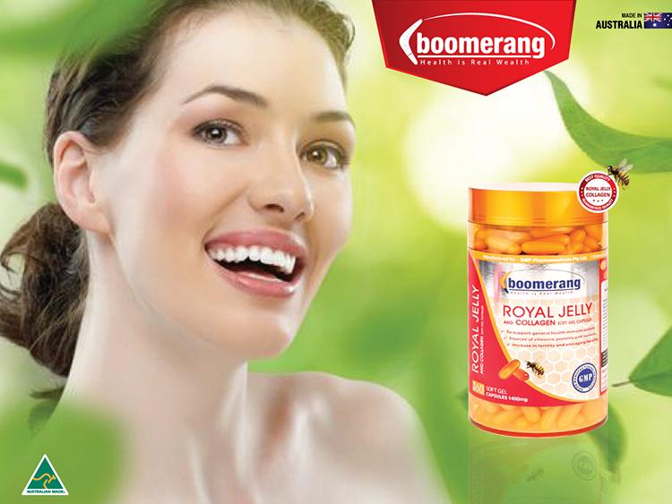 Sữa ong chúa bổ sung collagen góp phần cho làn da khỏe đẹp.