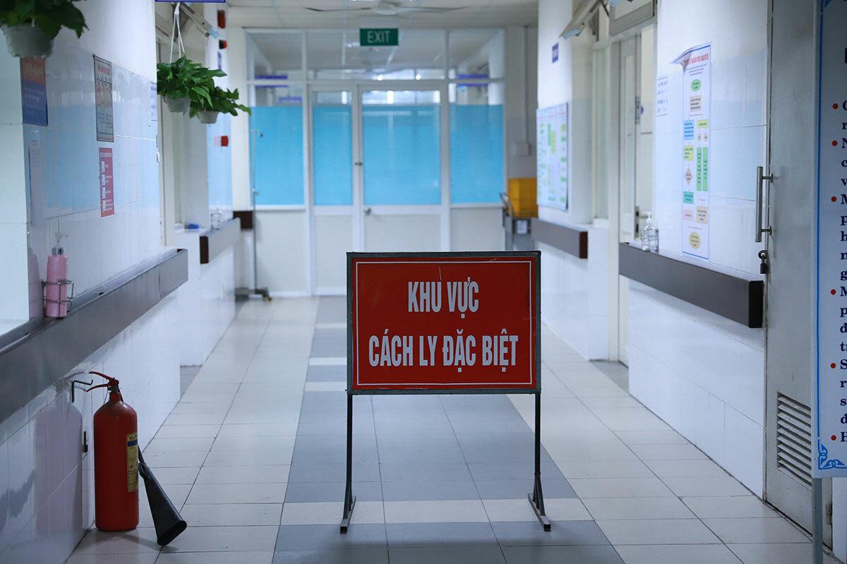 Khu vực cách ly tại Bệnh viện Đa khoa Đà Nẵng, nơi Oanh đang điều trị. Ảnh: Nguyễn Đông