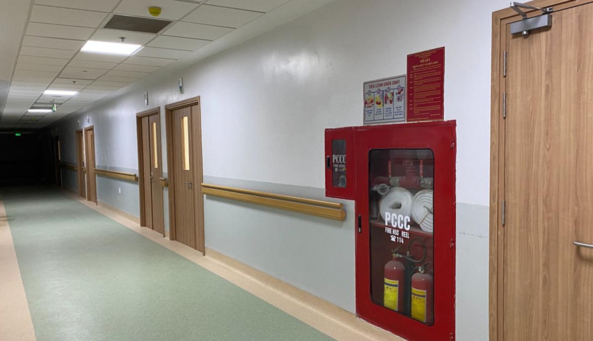 Khu vực điều trị nội trú với các phòng bệnh tại các khoa đã sẵn sàng hoạt động. Ảnh do Sở Y tế TP HCM cung cấp.