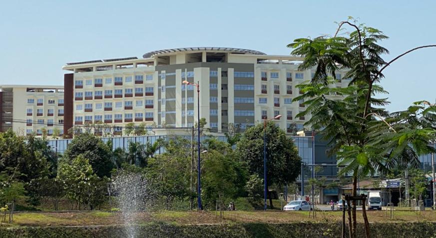 Bệnh viện Ung bướu cơ sở 2 chuẩn bị đi vào hoạt động với chức năng là bệnh viện chuyên tiếp nhận điều trị người nghi nhiễm hoặc nhiễm Covid-19. Ảnh do Sở Y tế TP HCM cung cấp.