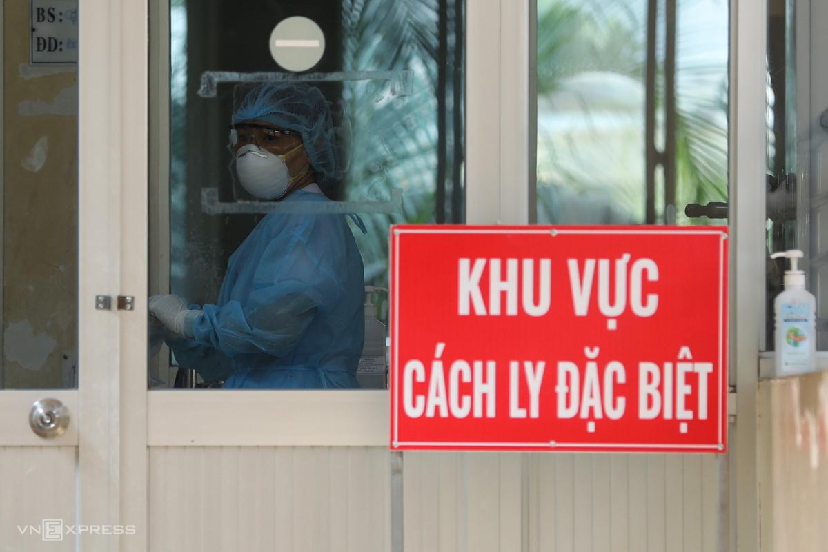 Bệnh viện Bệnh Nhiệt đới TP HCM, khu vực điều trị bệnh nhân 91. Ảnh: Hữu Khoa.