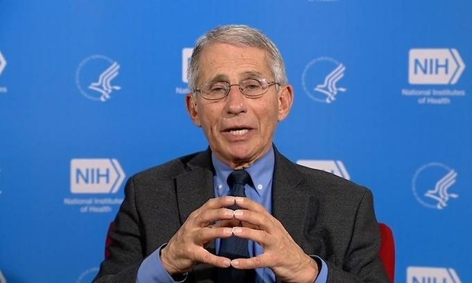 Tiến sĩ Anthony Fauci,Viện trưởngViệnDị ứng và Bệnh truyền nhiễm Quốc gia Mỹ. Ảnh: BBC