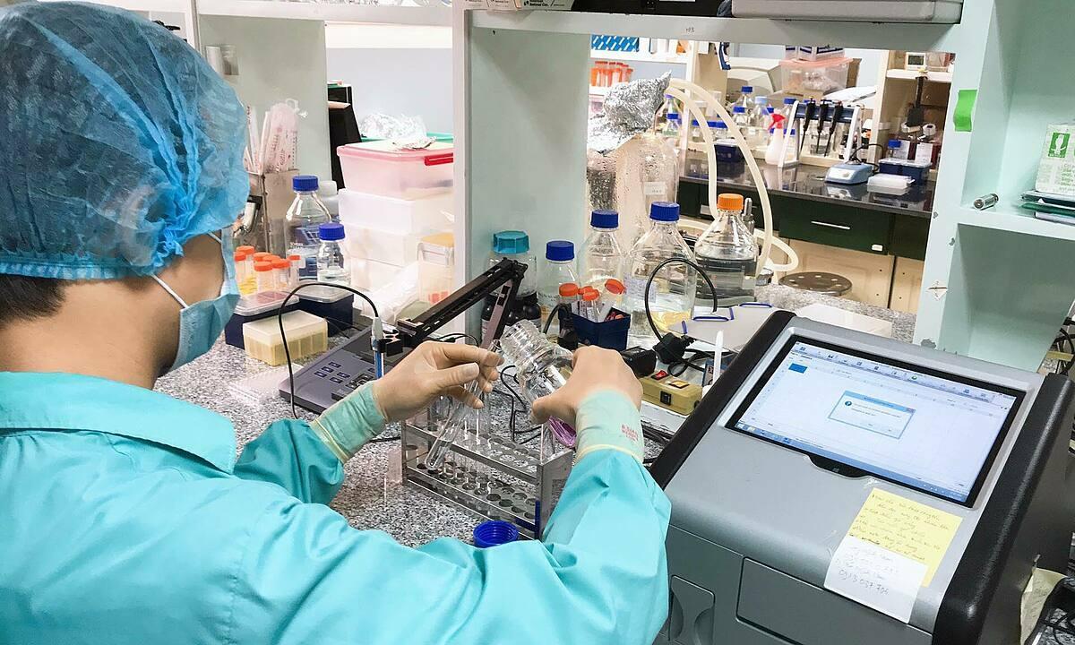 Nhà khoa học bào chế vaccine Covid-19 của Việt Nam. Ảnh:Tùng Lâm.