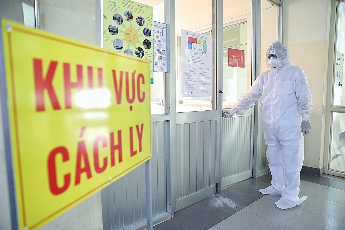 Bệnh viện Bệnh Nhiệt đới TP HCM, khu vực điều trị cách ly bệnh nhân phi công. Ảnh: Hữu Khoa.