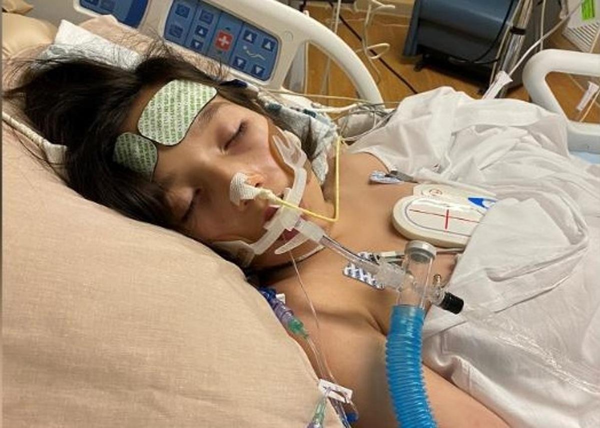 Juliet Daly, 12 tuổi phải thở máy do mắcHội chứng Viêm Đa hệ thống Có liên quan đến Covid-19 (MISC). Ảnh: CourtesyOchsner Health