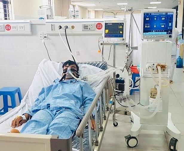 Bệnh nhân được điều trị tại Bệnh viện Đa khoa Hòa Bình. Ảnh: Bác sĩ cung cấp