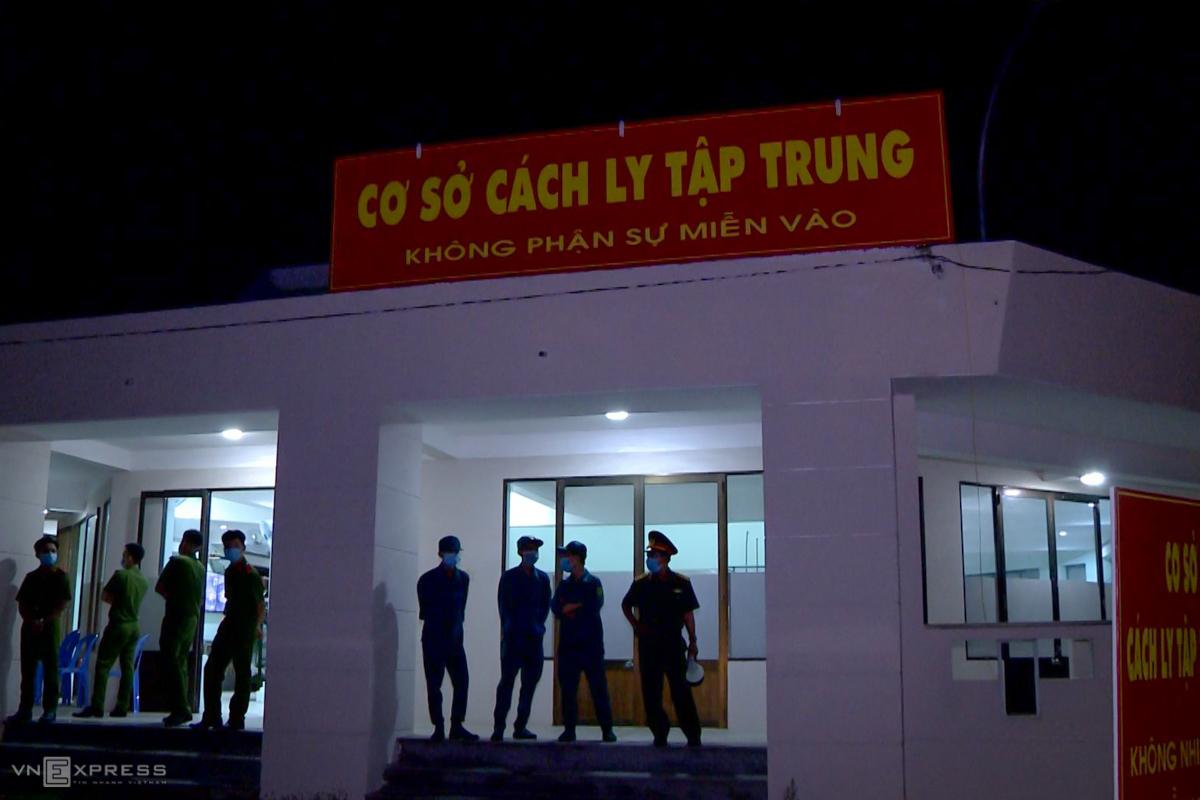 Khu cách ly tập trung tai Bà Rịa - Vũng Tàu.