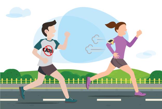 Carb góp phần thúc đẩy hiệu suất của runner trong cuộc đua. Ảnh:Podiumrunner.