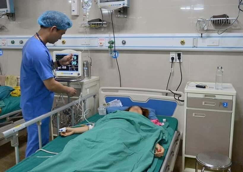 Bệnh nhân đang được theo dõi tại bệnh viện. Ảnh: Bệnh viện cung cấp