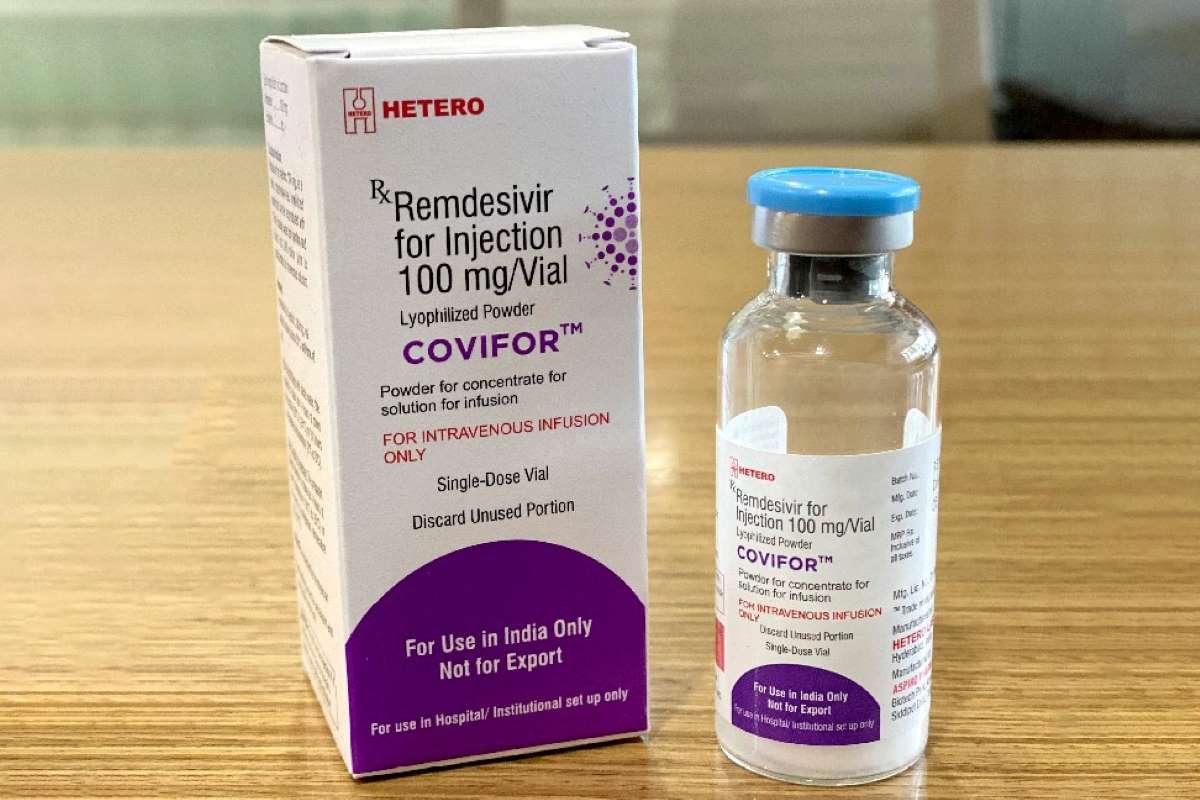 Thuốc remdesivir được hãng Hetero bán tại Ấn Độ với tên thương mại là Covifor. Ảnh: Hetero
