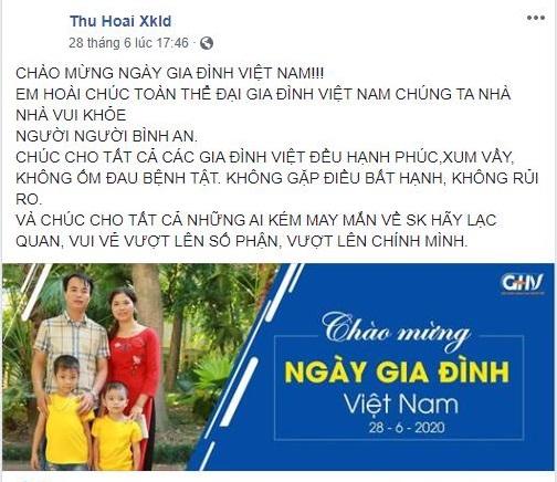 Chia sẻ của tác giả Nguyễn Thị Hoài trên mạng xã hội.