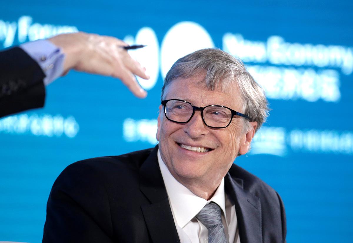 Tỷ phú Bill Gates tham dự một buổi hội thảo tại Diễn đàn Kinh tế mới 2019 ở Bắc Kinh, Trung Quốc, tháng 11/2019. Ảnh: Reuters