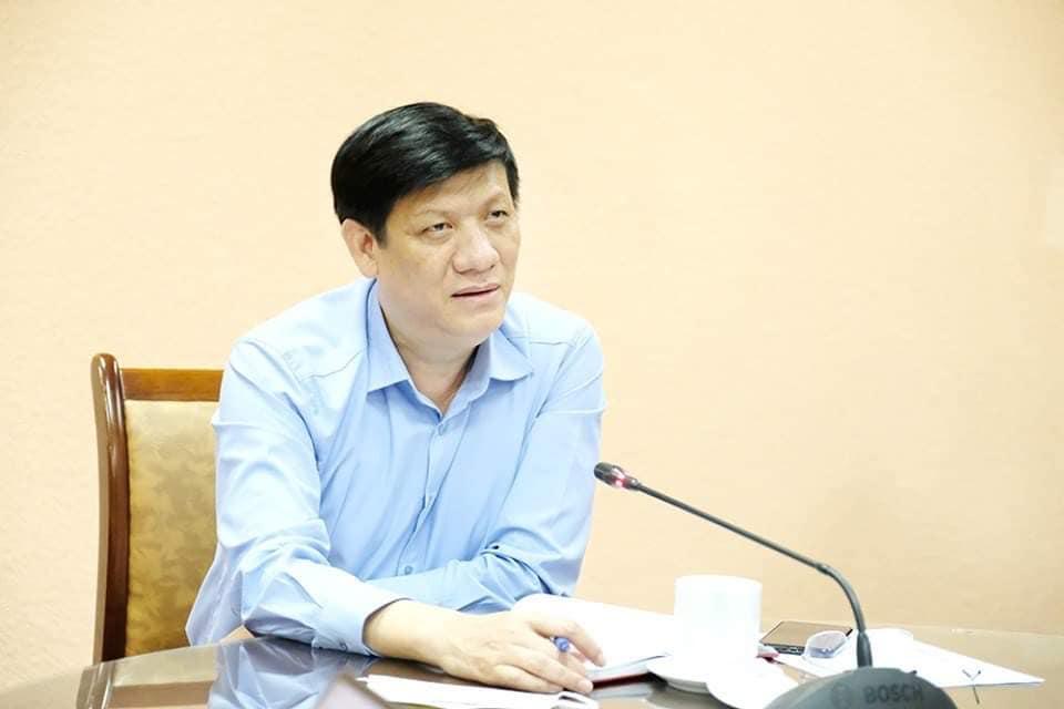 Quyền Bộ trưởng Y tế Nguyễn Thanh Long làm việc trực tuyến với Bộ Chỉ huy tiền phương, ngàu 1/8. Ảnh: Trần Minh.