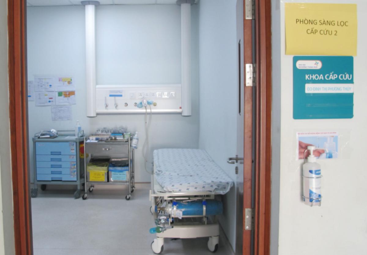 Buồng cấp cứu sàng lọc 2 sẽ tiếp cận các trường hợp cấp cứu nghiêm trọng. Ảnh Bệnh viện cung cấp