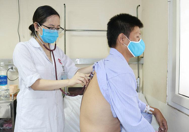 Hiện sức khỏe người bệnh tiến triển tốt. Ảnh: Bệnh viện cung cấp