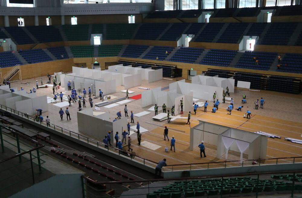 Khu thể thao Tiên Sơn thu dung điều trị các bệnh nhân khi có yêu cầu, có quy mô 700 giường bệnh. Ảnh: Lê Bảo.