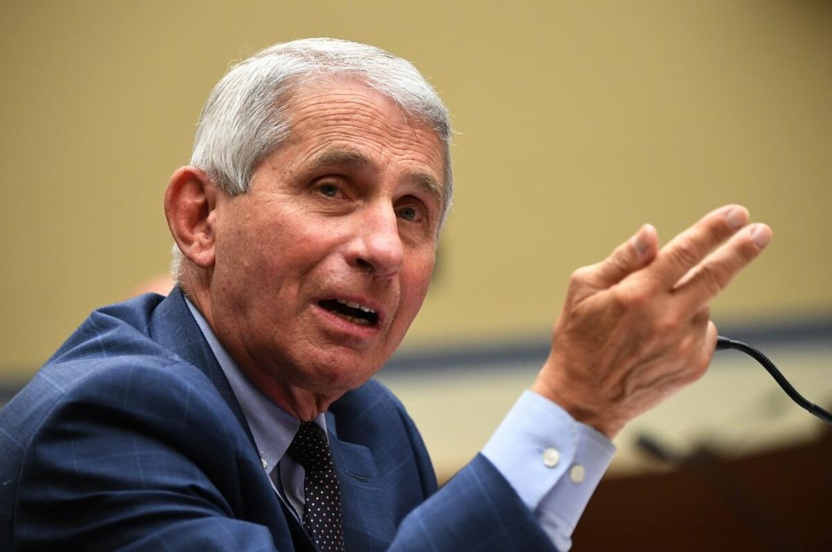 Tiến sĩ Anthony Fauci, Viện trưởng Viện Dị ứng và Bệnh truyền nhiễm Quốc gia, ngày 31/7. Ảnh: AFP