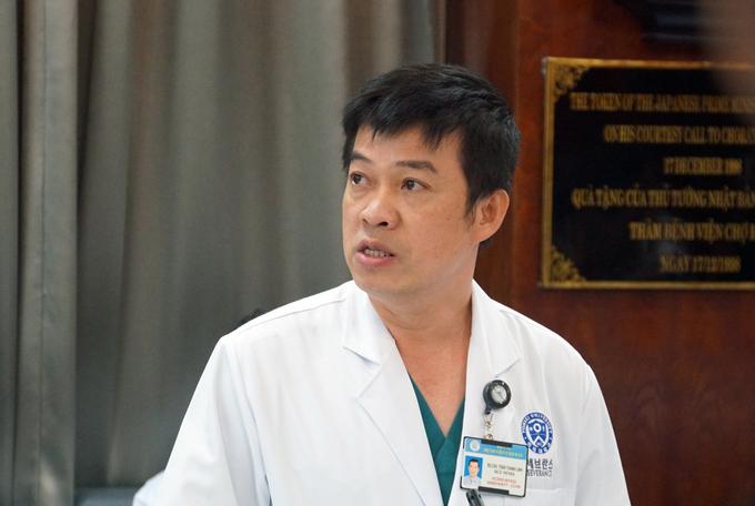 Bác sĩ Trần Thanh Linh trong một cuộc họp tháng 6/2020. Ảnh: Mạnh Tùng