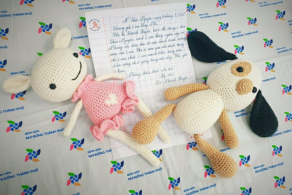 Món quà đặc biệt từ Thái Nguyên gửi tới TP HCM tặng những chiến binh nhỏ tuổi.  Ảnh Bệnh viện cung cấp.