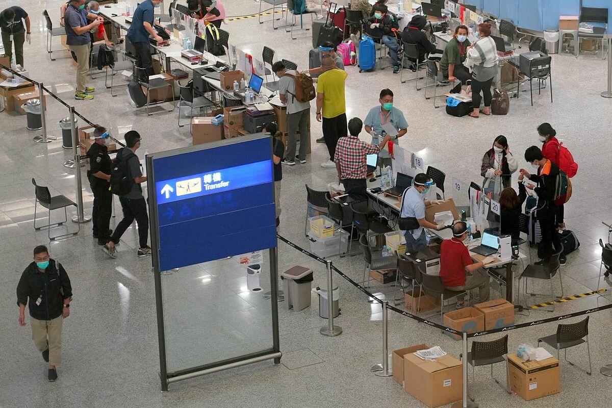 Sân bay Quốc tế Hong Kong, ngày 17/8. Ảnh: China News Service