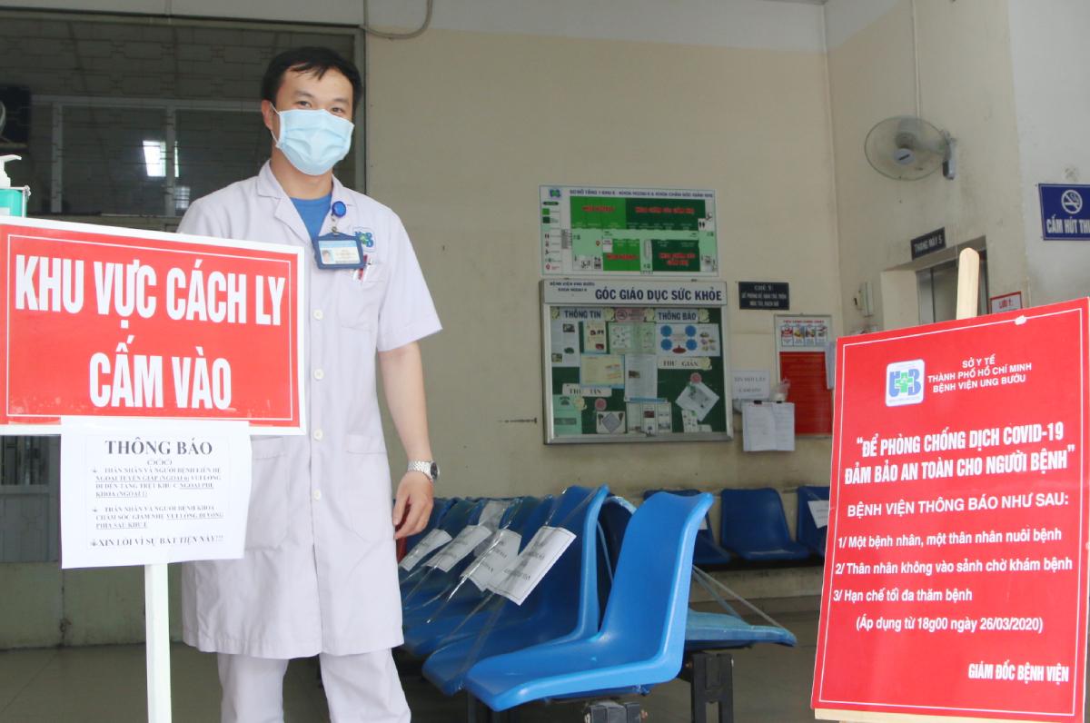 Trong tuần này, các bệnh nhân ung thư có kèm các bệnh nền khác sẽ được chuyển vào khu điều trị bệnh nhân nặng. Ảnh Thư Anh.