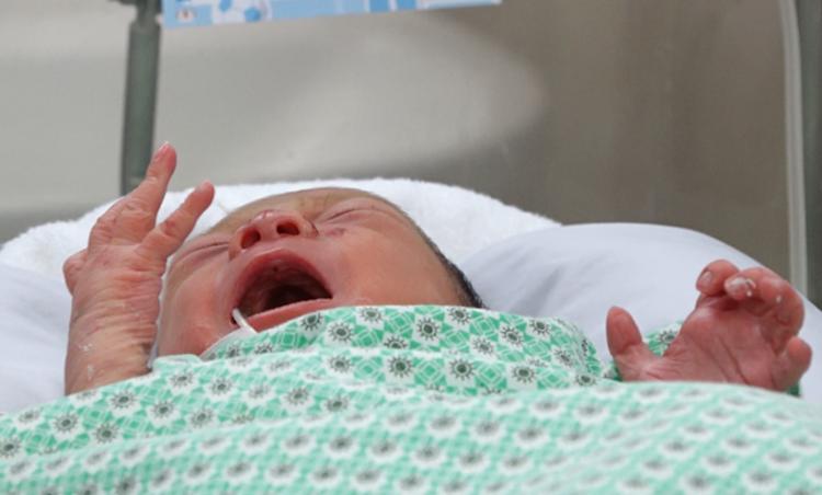 Bé sơ sinh được chăm sóc tại Bệnh viện Xanh Pôn. Ảnh: Thế Quỳnh