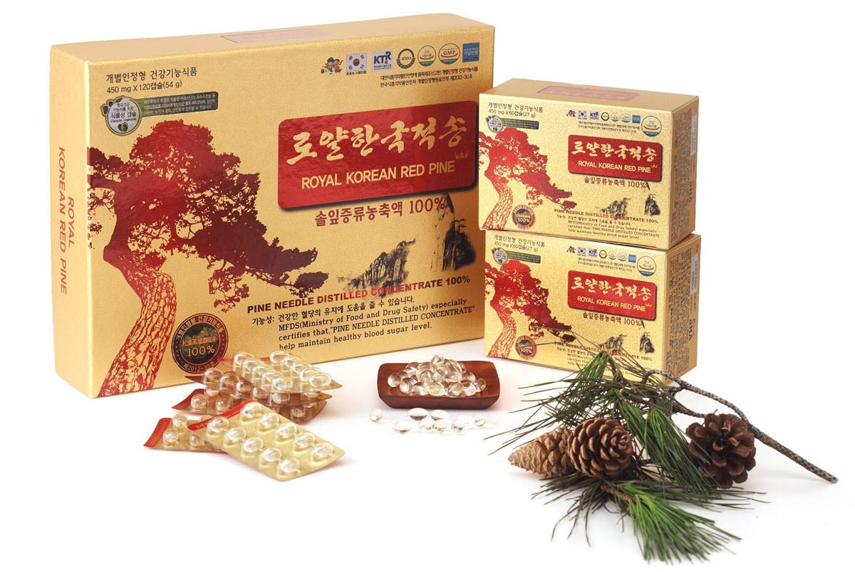 Tinh dầu thông đỏ hoàng gia Royal Korean Red Pine nhập khẩu và phân phối bởi công ty VHP – đơn vị hơn 10 năm trong lĩnh vực nhập khẩu và phân phối chế phẩm cao cấp từ nhân sâm, nấm linh chi, đông trùng hạ thảo và thông đỏ Hàn Quốc.
