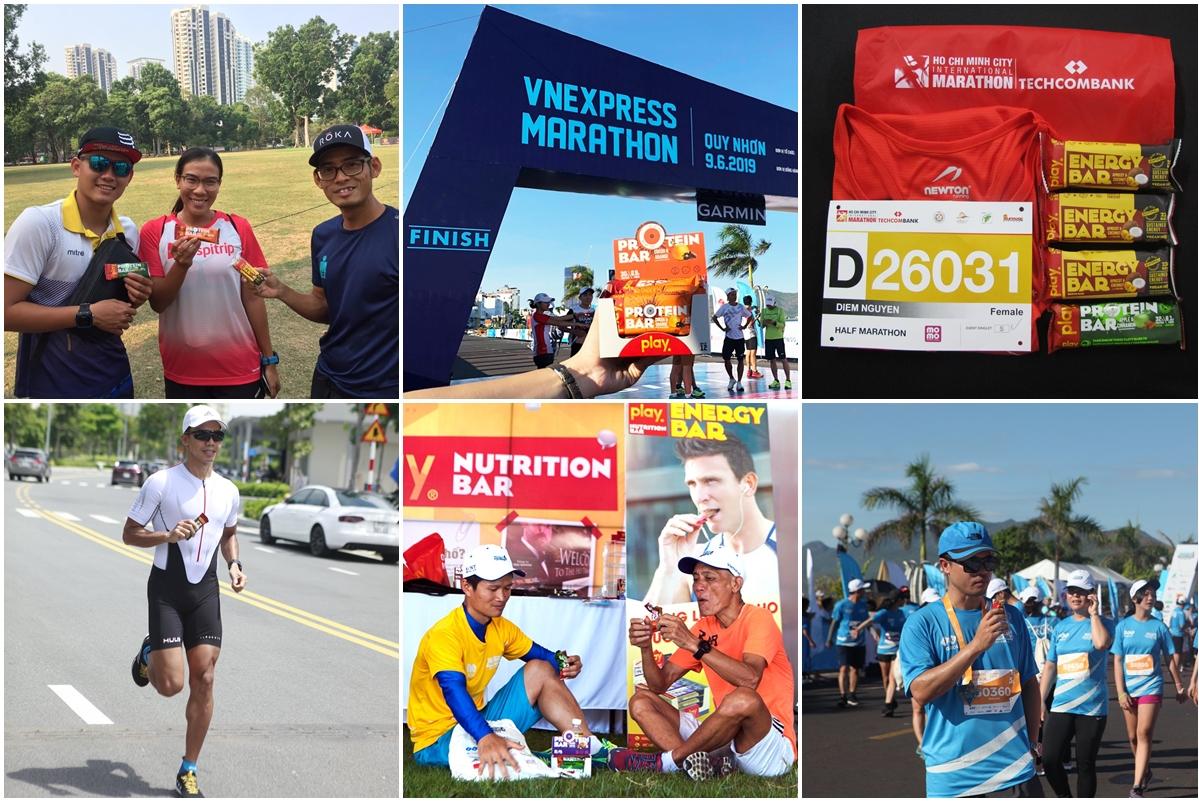 Thanh dinh dưỡng của PLAY Nutrition được đông đảo runner sử dụng trong các giải chạy lớn tại Việt Nam.
