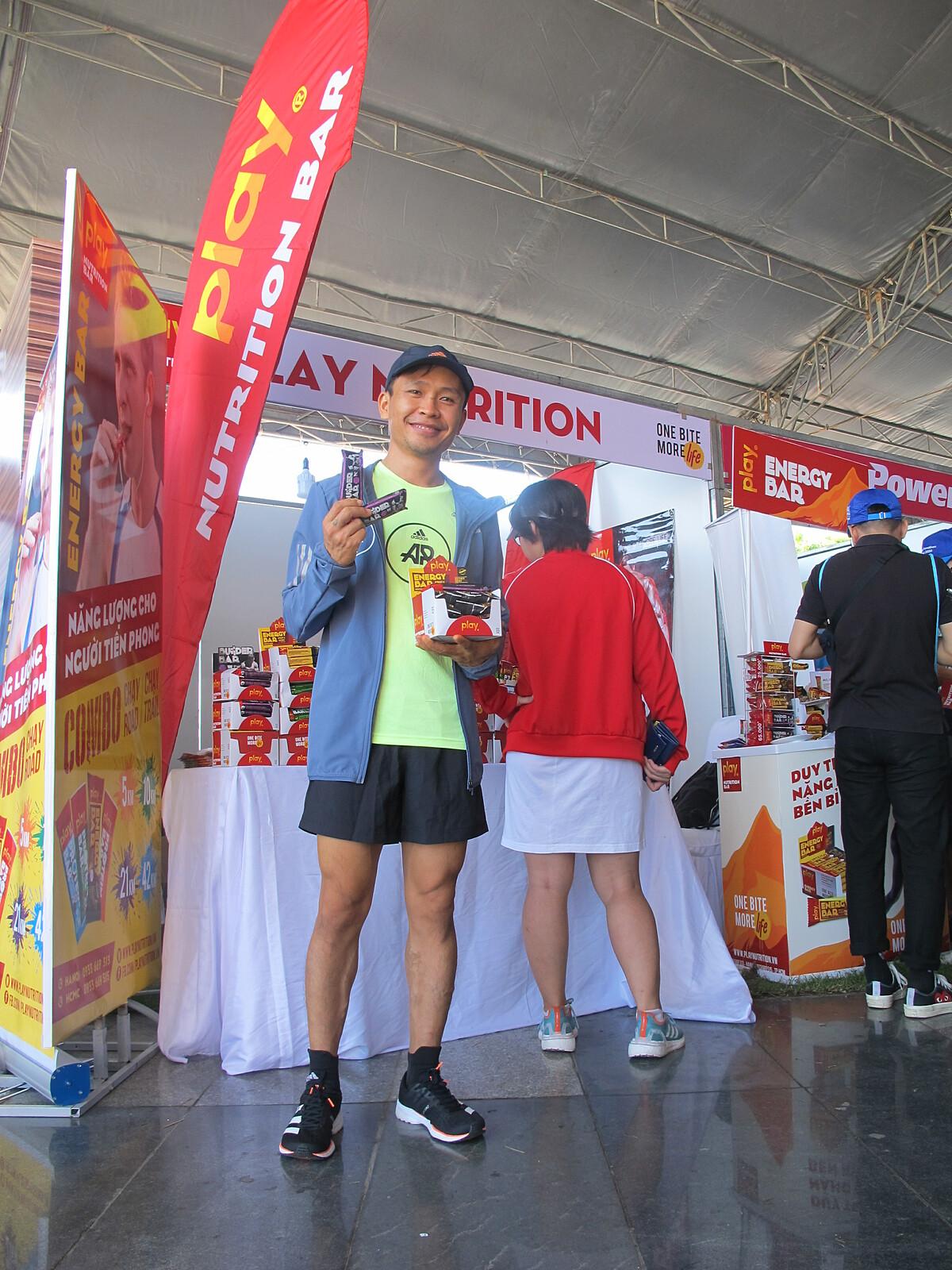 Runner Đậu Văn Ngọc là người ăn chay trường.