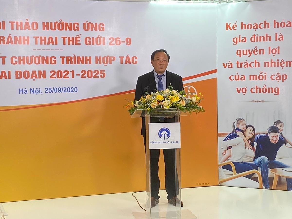Ông Nguyễn Doãn Tú, Tổng cục Trưởng, Tổng cục Dân số Kế hoạch hóa Gia đình phát biểu tại chương trình Hưởng ứng Ngày Tránh thai Thế giới với chủ đề Chủ động Tránh thai, Chủ động Tương lai