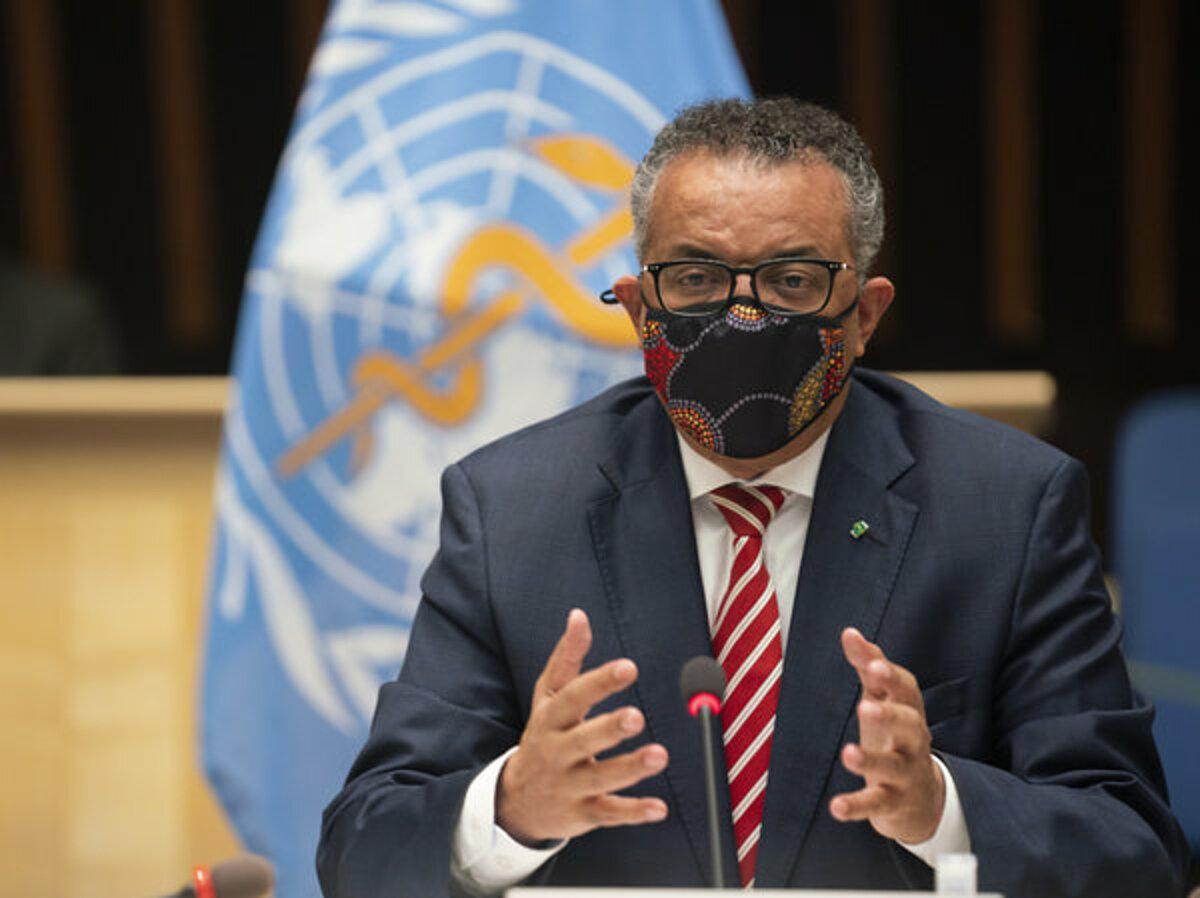 Tổng giám đốc WHO Tedros Adhanom Ghebreyesus trong buổi họp ngày 5/10, tại Thụy Sĩ. Ảnh: AP
