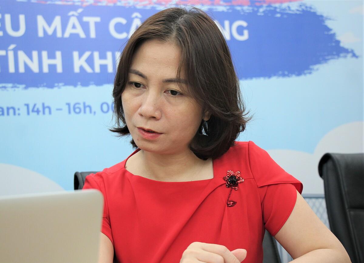 Bà Hà Thị Quỳnh Anh, Chuyên gia của Quỹ Dân số Liên hợp quốc UNFPA về Giới và Nhân quyền.