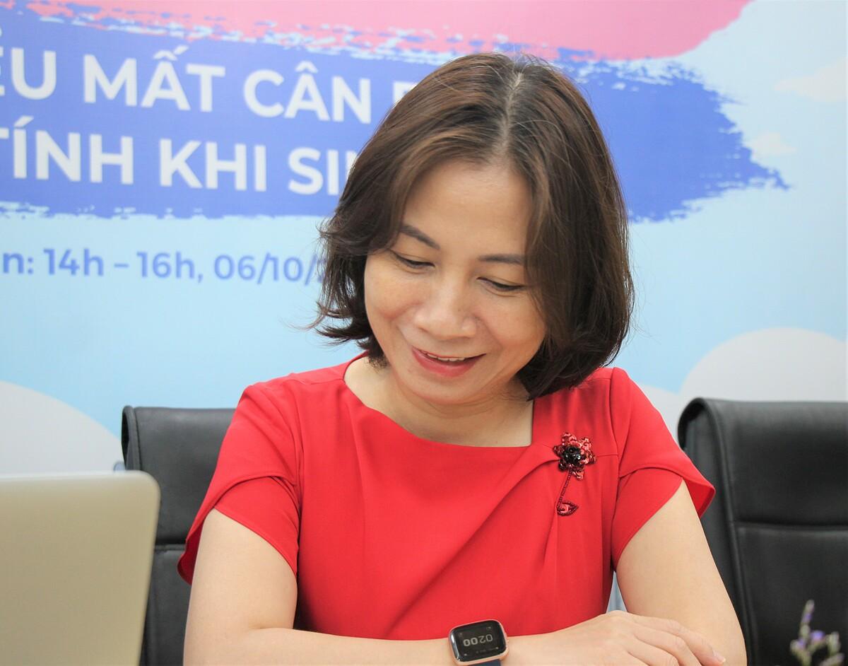 Bà Quỳnh Anh chia sẻ Quỹ Dân số Liên hợp quốc có rất nhiều hoạt động thúc đẩy bình đẳng giới tại Việt Nam.