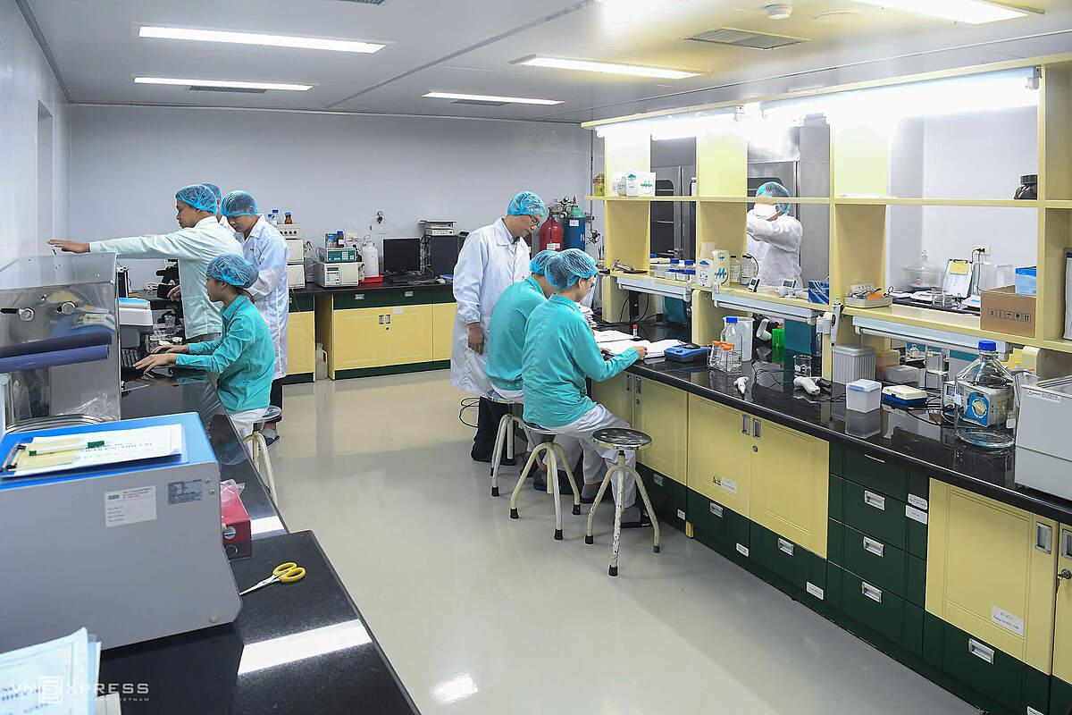 Phòng nghiên cứu vaccine Covid-19 Việt Nam tại VABIOTECH. Ảnh: Giang Huy.