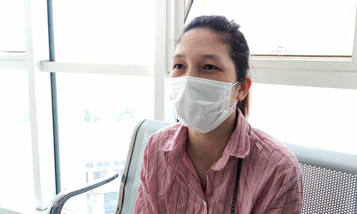 Thúy Hà, bệnh nhân 411, được công bố khỏi bệnh ngày 16/10. Ảnh: Chi Lê.