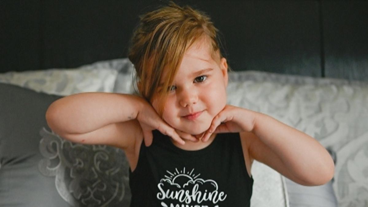 Isabelle, được chẩn đoán mắc u thần kinh đệm khi mới 4 tuổi. Ảnh: CTV News