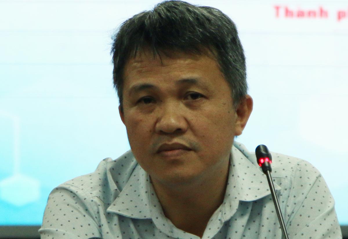Bác sĩ Phan Thanh Tâm, Phó giám đốc Trung tâm Kiểm soát Bệnh tật TP HCM. Ảnh: Thư Anh.
