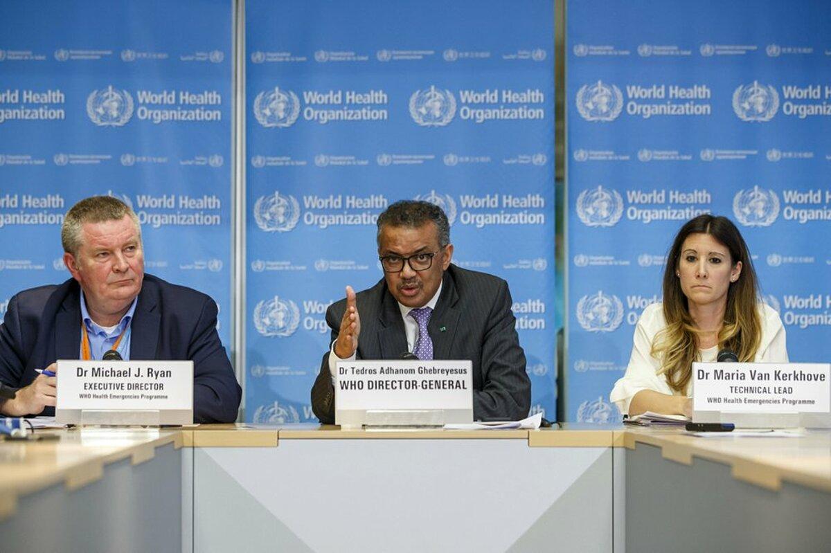 Các lãnh đạo của WHO trong cuộc họp tại Geneva, Thuỵ Sĩ, tháng 2/2020. Ảnh: AP