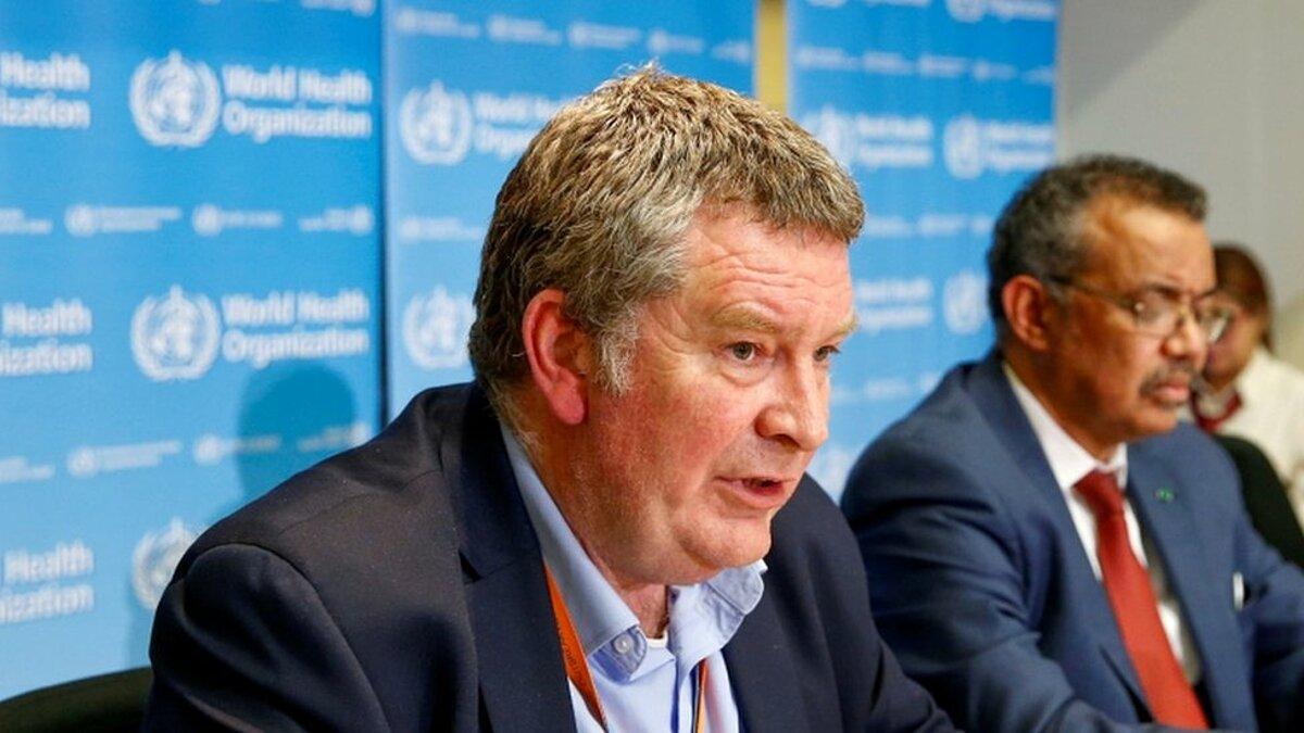 Giám đốc chương trình khẩn cấp của WHO, Mike Ryan trong buổi họp tại Geneva, Thuỵ Sĩ. Ảnh: Reuters