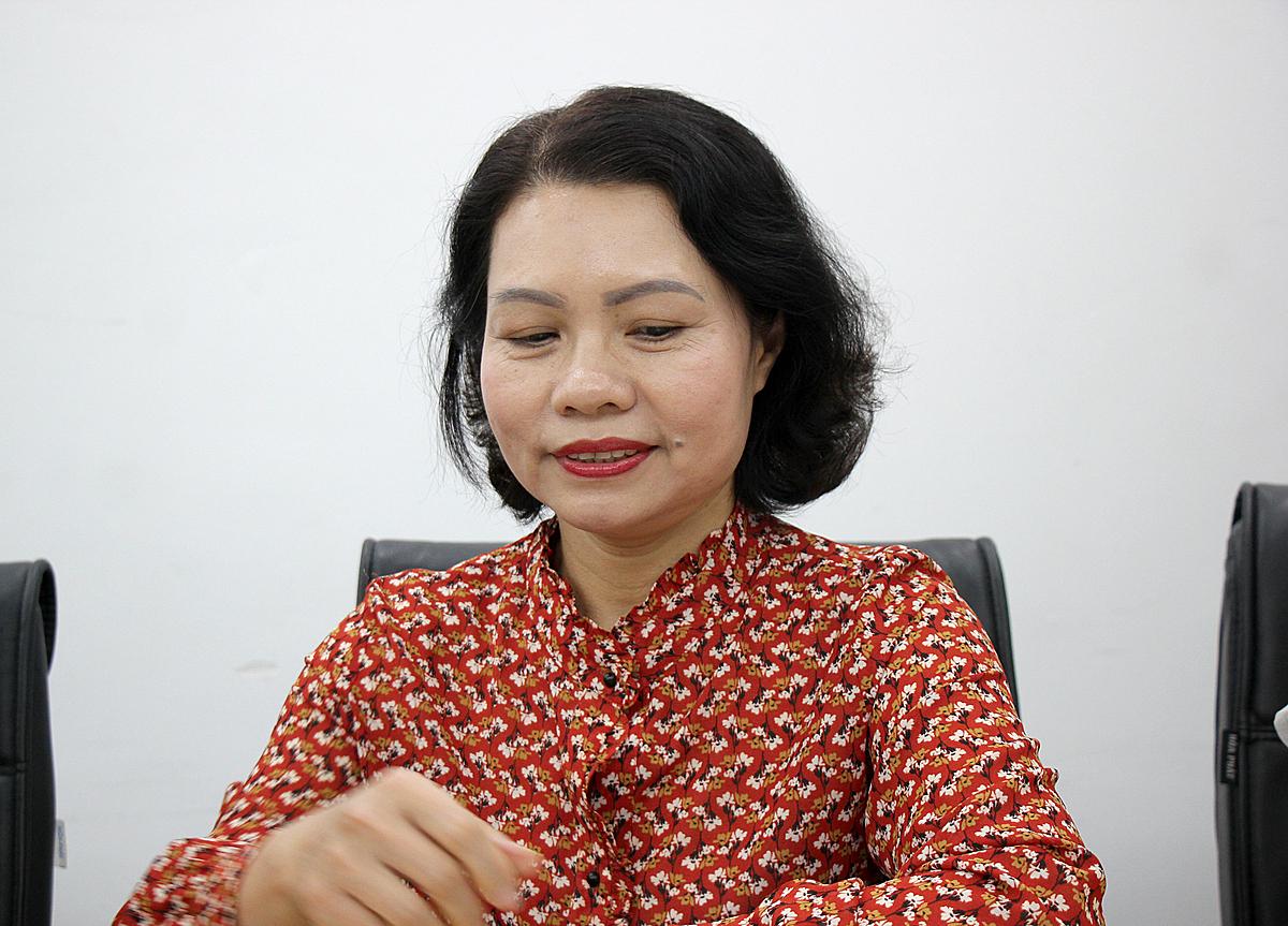 Bà Đinh Mai Hạnh cung cấp thông tin về mức hỗ trợ đóng bảo hiểm tự nguyện.