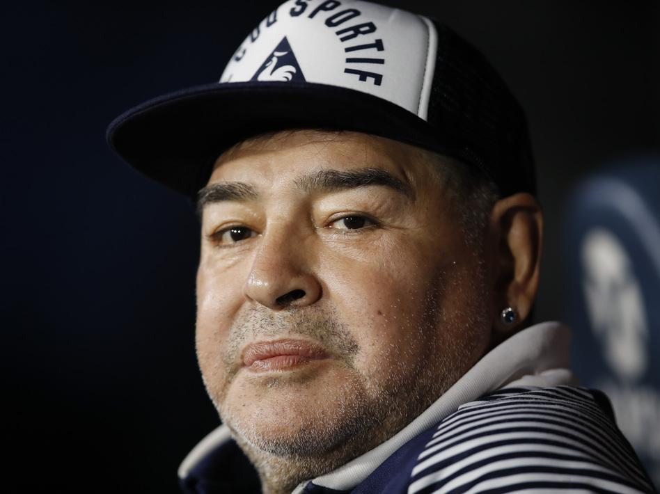 Huyền thoại bóng đá Diego Maradona. Ảnh: AP.