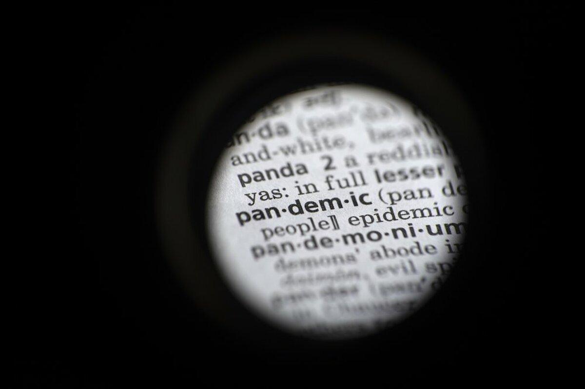 Từ Đại dịch (Pandemic) dưới ống kính của phóng viên tờ AP, trong một cuốn từ điển tại Washington, Mỹ, ngày 21/11. Ảnh: AP