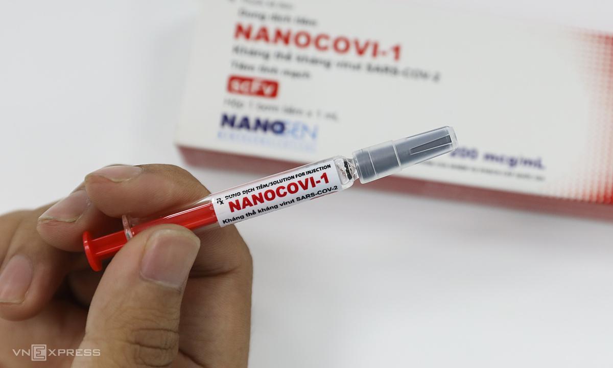 Vaccine Covid-19 có tên Nanocovax do Công ty Nanogen nghiên cứu và sản xuất. Ảnh: Quỳnh Trần.