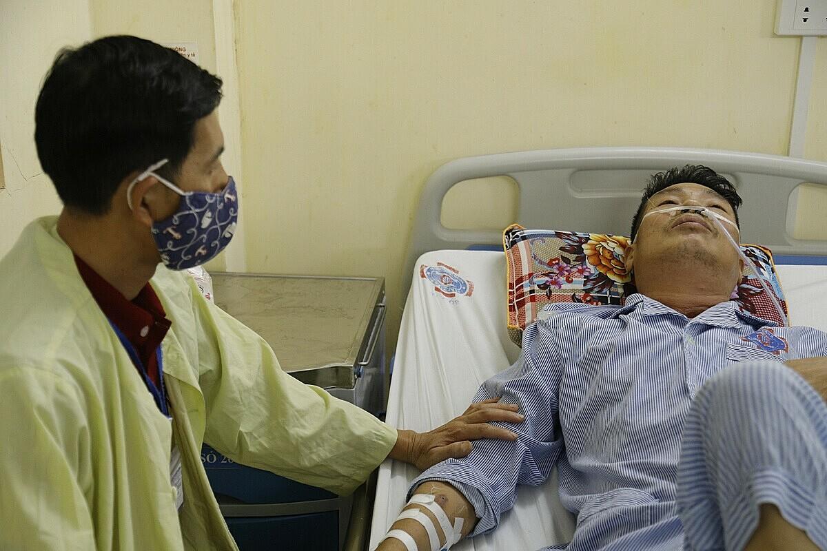 Ông Kha đang tiếp tục được điều trị tại Bệnh viện K. ẢNh: Hà Trần.