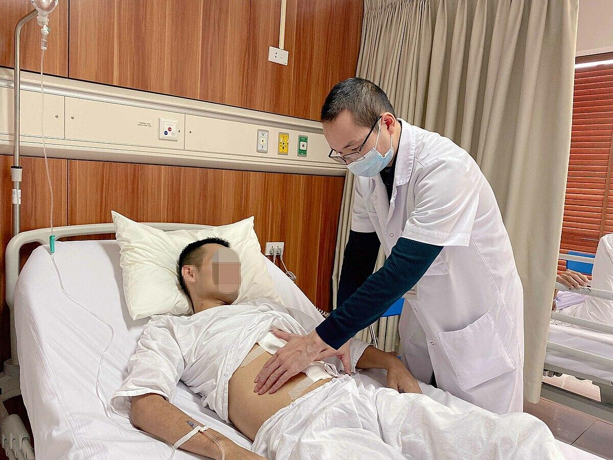 Bệnh nhân hồi phục tốt sau phẫu thuật cắt khối u. Ảnh: Bệnh viện cung cấp.
